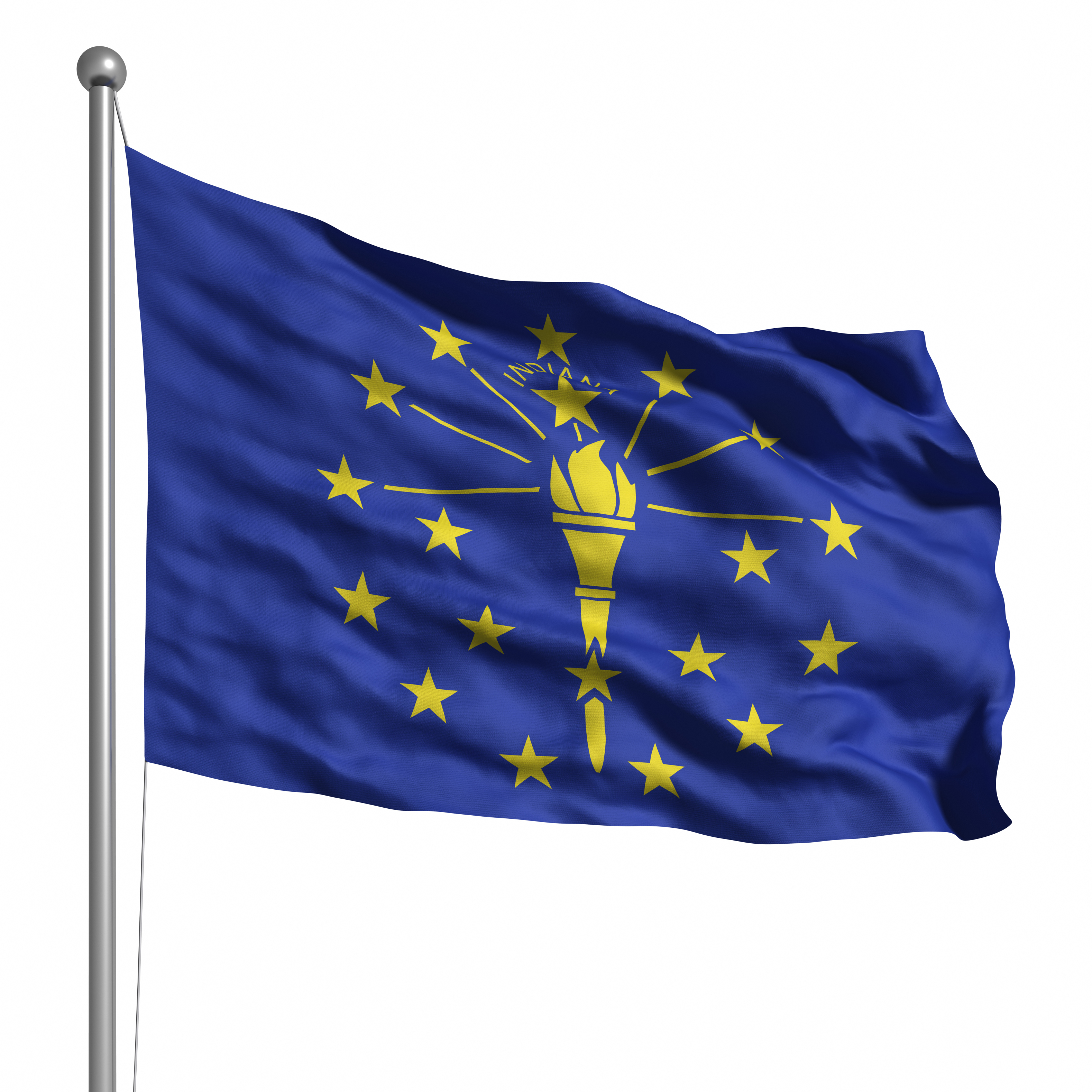 Flag of Indiana (isolated)